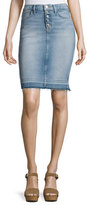 Hudson Remi High-Rise Denim Pencil Skirt, Indigo