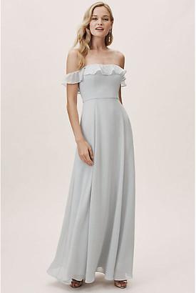 BHLDN Macau Dress By in Silver Size 18