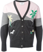 Thom Browne palm tree intarsia cardigan - men - Cashmere - 1