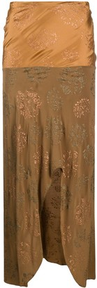 Romeo Gigli Pre-Owned 1990s Front Slit Midi Skirt