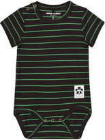Mini Rodini Black and Green Stripe Body
