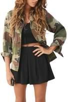 Compia Women Camouflage Jacket Coat Autumn Winter Street Jacket Casual Jackets (M)