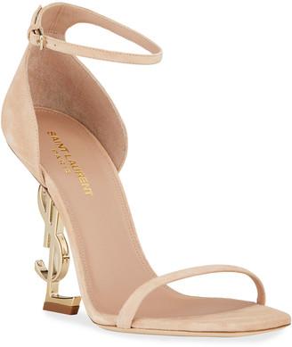 Saint Laurent Opyum Suede 110mm Heel Sandals