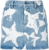 Givenchy star print denim skirt - women - Cotton/Polyester - 36