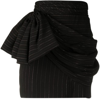Redemption Ruched Bow-Detail Skirt