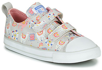 Converse CHUCK TAYLOR ALL STAR 2V LLAMA - OX girls's Shoes (Trainers) in Grey