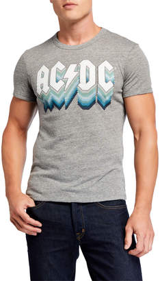 Chaser Men's AC/DC Triblend Crewneck Graphic T-Shirt