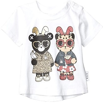 HUXBABY Almost Bunny T-Shirt (Infant/Toddler) (White) Kid's Clothing