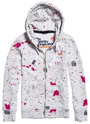 Superdry Women's Orange Label AOP Sweatshirt,M (Size:12)