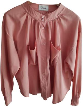 Ganni Spring Summer 2019 Pink Top for Women