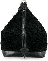 Jamin Puech furry zipped backpack