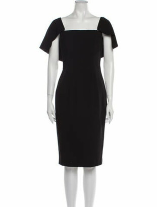 Black Halo Square Neckline Knee-Length Dress w/ Tags Black