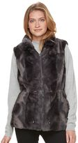 Gallery Women's Reversible Faux-Fur Vest