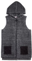Design History Girls' Hooded Marled Sweater Vest - Sizes S-XL