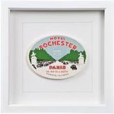 One Kings Lane Vintage Framed Hotel Rochester Luggage Label