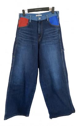 Tsumori Chisato Blue Cotton Jeans for Women