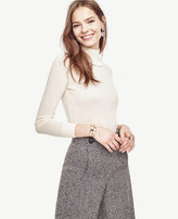Ann Taylor Petite Ruffle Turtleneck Pullover