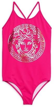 Versace Little Girl's & Girl's Medusa One-Piece Swimsuit