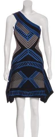 Herve Leger Margaux Jacquard Dress