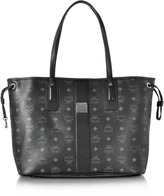 MCM Black Shopper Project Visetos Liz Reversible Medium Tote