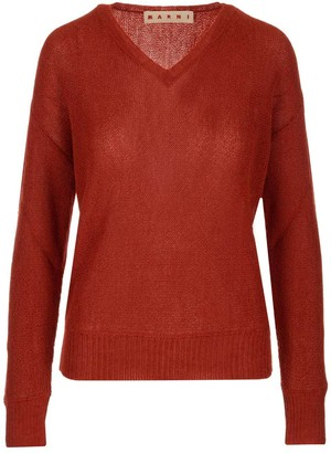Marni Long Sleeved V-Neck Knit