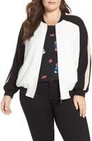 Vince Camuto Plus Size Women's Colorblock Bomber Jacket