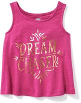 Old Navy Graphic Cutout-Back Swing Tank for Toddler Girls