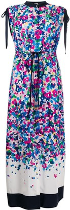 Karl Lagerfeld Paris Degrade Printed Maxi Dress