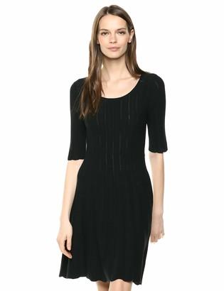 Lark & Ro Matisse Half Sleeve Flared Dress Dark Navy S