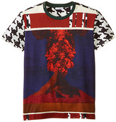 Dolce & Gabbana Volcano Print Short Sleeve T-Shirt (Big Kids)