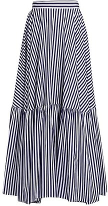 Plan C Striped Maxi Skirt