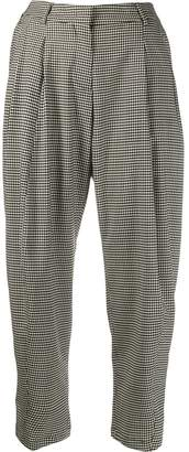 Alberto Biani cropped checked trousers