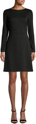 Theory Houndstooth Fit Flare Dress