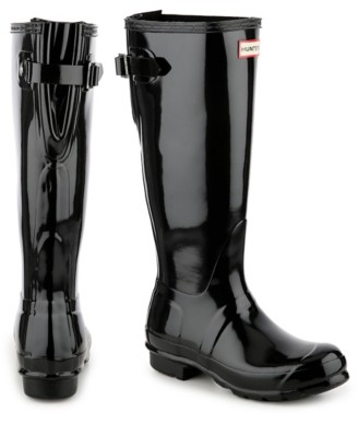 Hunter Original Tall Gloss Back Adjustable Rain Boot