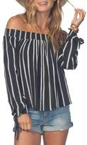 Rip Curl Shoreside Stripe Off the Shoulder Top