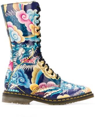 Dr. Martens x 2000s Japanese print combat boots