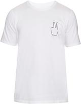 Rag & Bone Peace-embroidered cotton T-shirt