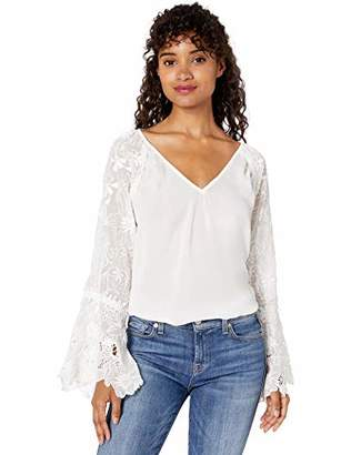 Ramy Brook Women's Long Sleeve LACE Crysta TOP