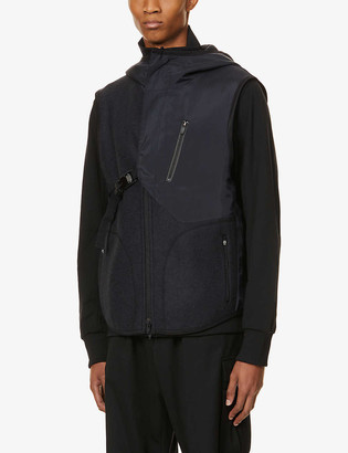 Y-3 Fleece cotton and wool-blend gilet