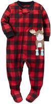 Carter's Toddler Boy Animal Fleece Footed Pajamas