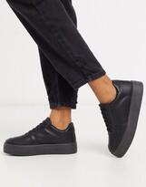 Asos Design DESIGN Diaries flatform sneakers in black