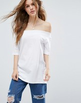 Asos T-Shirt in Off Shoulder Boxy Fit