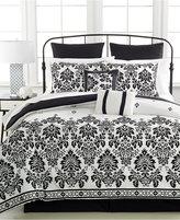 Pem America Damask Flocked 8-Pc. Queen Comforter Set