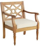 Pier 1 Imports Chiara Wood Turned Leg Armchair