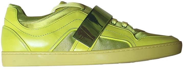 Christian Dior Green Leather Trainers