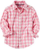 Carter's Gingham Button-Front Shirt