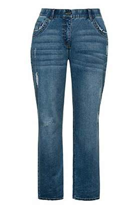 Ulla Popken Women's Jeans Mit Leichter Waschung, Boyfriend,36W / 31L