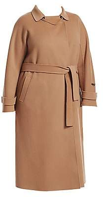 Marina Rinaldi Marina Rinaldi, Plus Size Women's Trionfo Wrap Camel Coat