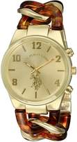 U.S. Polo Assn. Women's USC40174 Analog Display Analog Quartz Two Tone Watch