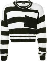 Raf Simons cropped stripe sweater